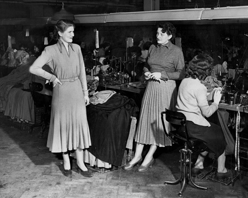 Wolsey factory, Leicester 1949 by Mirrorpix