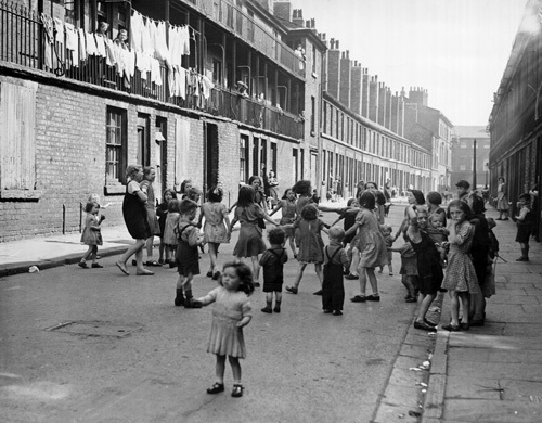 Street games, 1947 by Mirrorpix