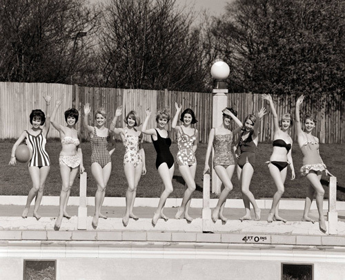 Swimwear models, 1961 by Mirrorpix