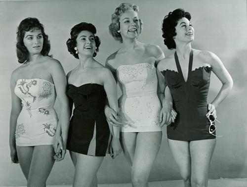 Swimwear models, 1950s by Mirrorpix