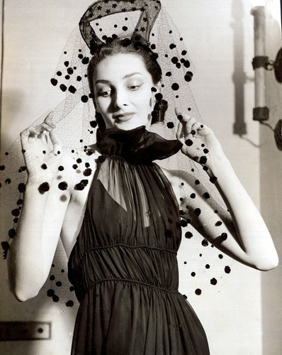 Model in evening gown, 1938 by Mirrorpix