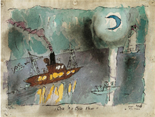 Once in a blue moon, 1938 by Lyonel Feininger