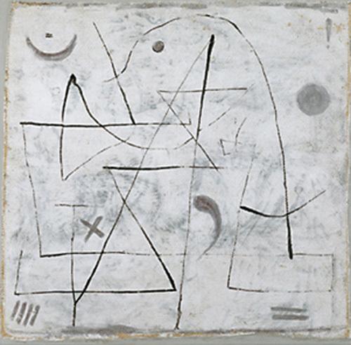 Gedanken bei Schnee, 1933 by Paul Klee