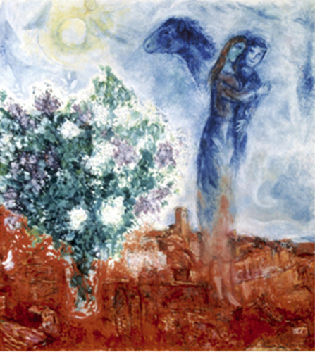 Die liebenden uber St Paul, 1970-71 by Marc Chagall