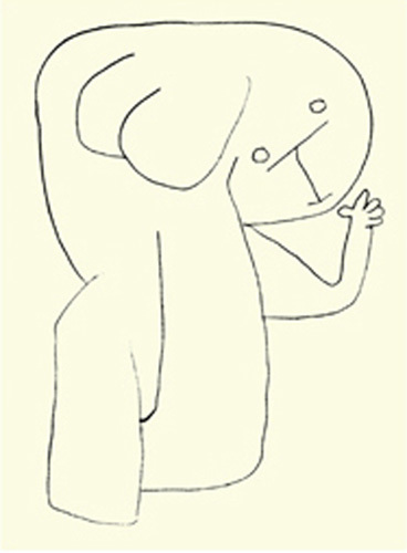 Angel in Nursery by Paul Klee