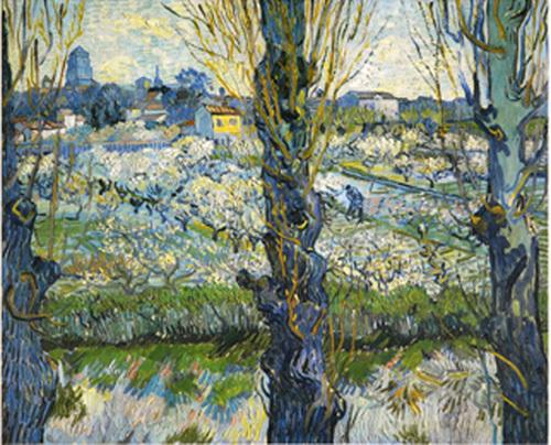Blick auf Arles, 1889 by Vincent Van Gogh