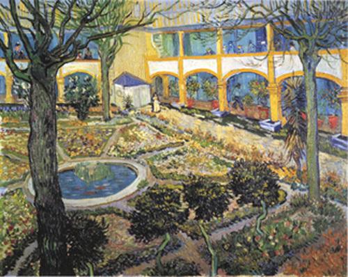 Der Garten des Maison ... by Vincent Van Gogh