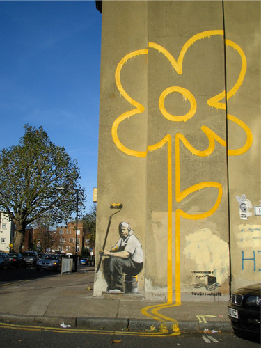 Double Yellow Flower by Street Art