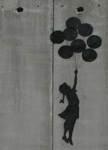 Balloon Girl by Street Art