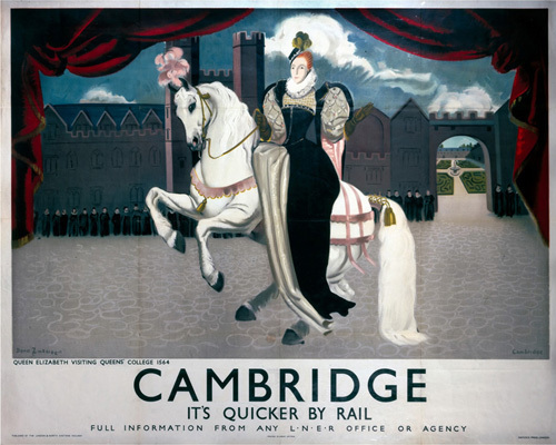 Cambridge - Queen Elizabeth on Horseback by National Railway Museum