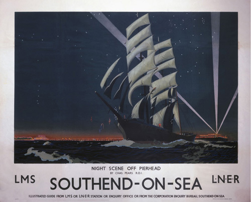 Southend-On-Sea - Night scene off Pierhead by National Railway Museum