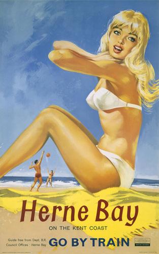 Herne Bay - Girl in White Bikini by National Railway Museum