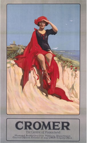 Cromer - Girl with Red Blanket by National Railway Museum