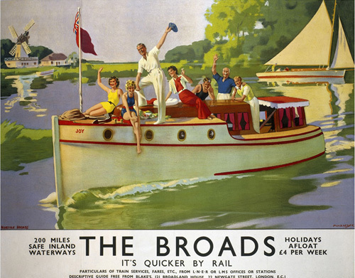 The Broads - It's Quicker by Rail by National Railway Museum