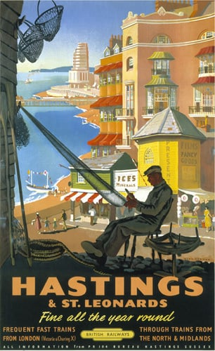 Hastings & St Leonards - Repairing Nets by National Railway Museum