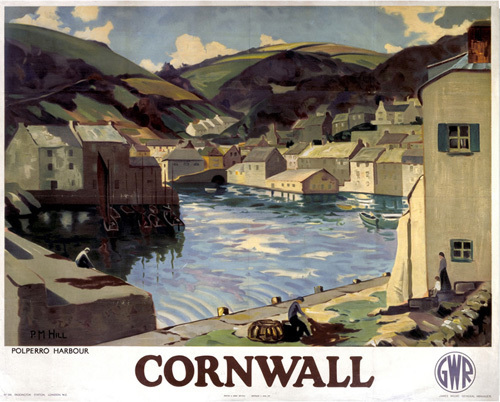Cornwall - Polperro Harbour by National Railway Museum