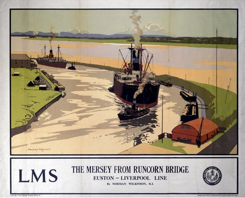 The Mersey from Runcorn Bridge by National Railway Museum