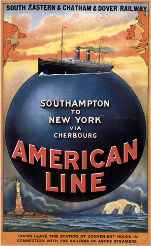 American Line - Southampton-New York by National Railway Museum