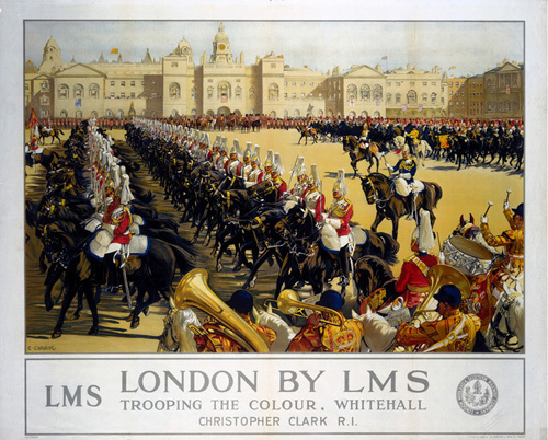 London - Trooping the Colour, Whitehall by National Railway Museum