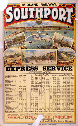 Southport - Express Service Timetable by National Railway Museum
