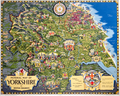 Pictorial Map of Yorkshire by National Railway Museum