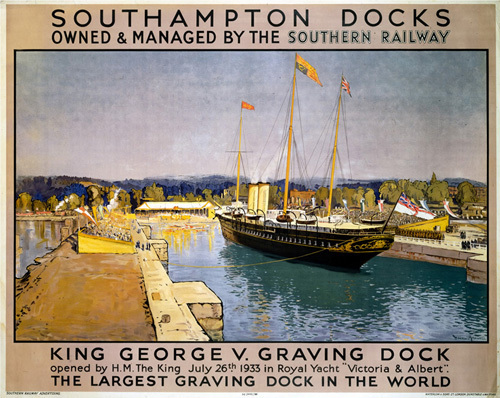 Southampton Docks - King George V Graving Dock by National Railway Museum