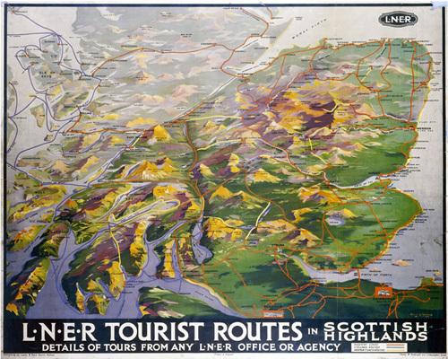 Tourist Routes in Scottish Highlands by National Railway Museum