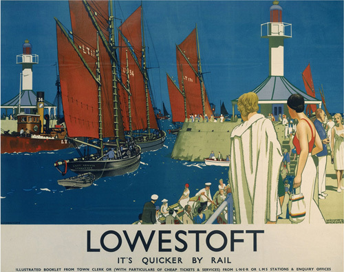 Lowestoft - Lighthouse and Boats by National Railway Museum