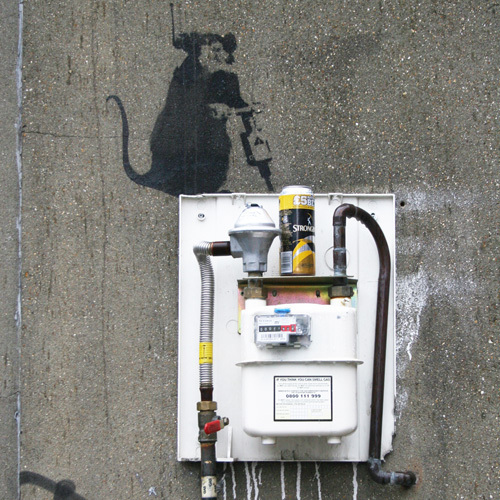 Banksy - Hoxton (Colour) by Panorama London