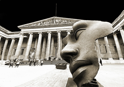 British Museum (Sepia) by Panorama London