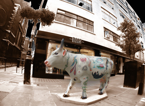 Jermyn Street Cow by Panorama London