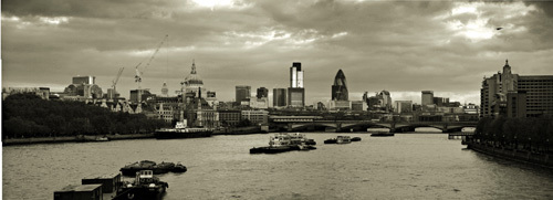 Panorama Waterloo 1 (Sepia) by Panorama London