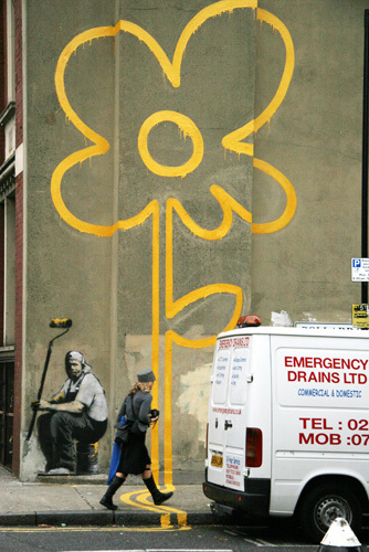 Banksy - Pollard Street Flower by Panorama London