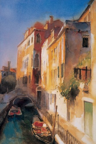 Bridge And Walkway, Venice by Cecil Rice