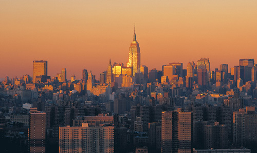 Manhattan Dusk by Richard Berenholtz