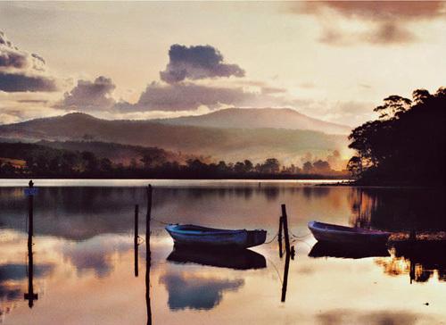Merimbula Lake At Sunset by Kirsty McLaren