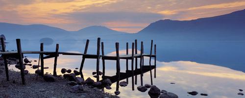 Derwent Water At Dawn, Cumbria by David Noton