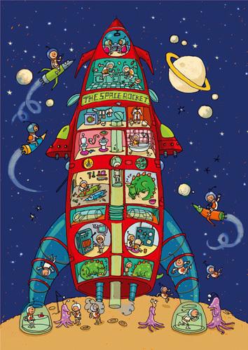 The Space Rocket by Joelle Dreidemy