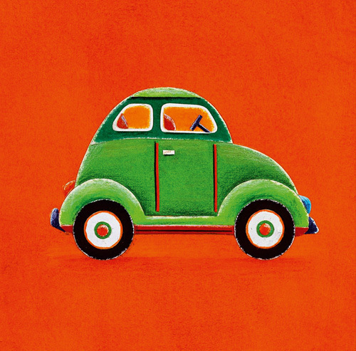 Green Car by Simon Hart