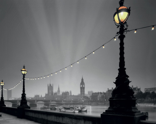England, London: Evening over Houses of Parliament I by Edmund Nagele