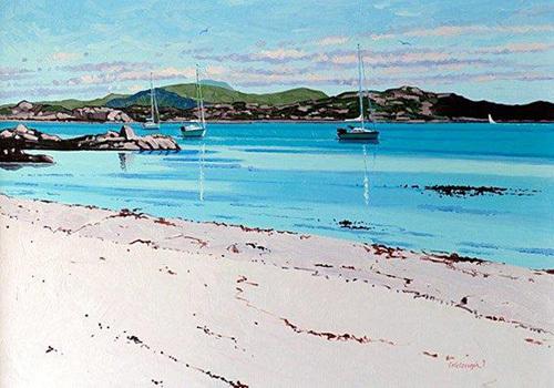 Summer Mooring, Iona by Frank Colclough