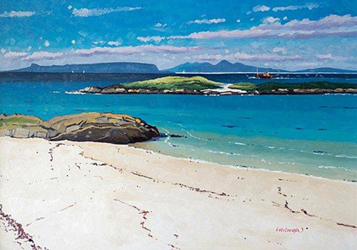 Eigg and Rum from Arisaig by Frank Colclough