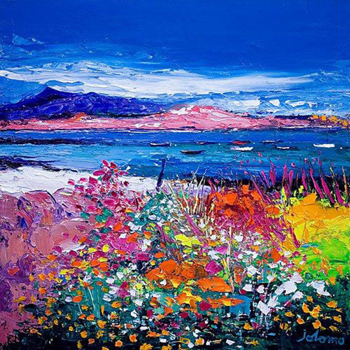 Front Gardens and the Moorings, Iona by John Lowrie Morrison