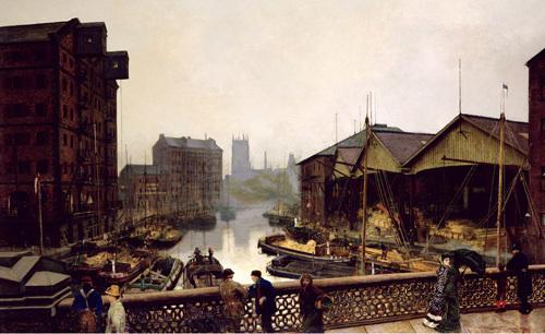 Leeds Bridge by John Atkinson Grimshaw