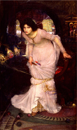 The Lady of Shalott looking at Lancelot by John William Waterhouse