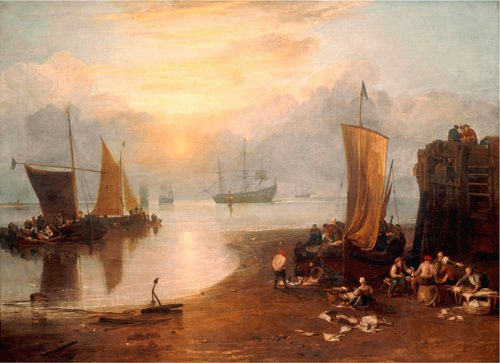 Sun Rising Through Vapour by Joseph Mallord William Turner