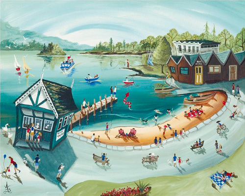 Bowness Boating by Anne Blundell