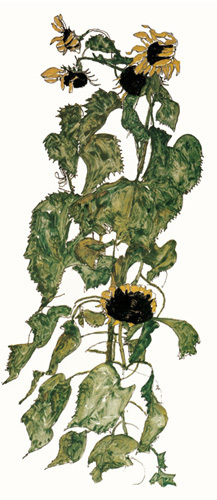 Sunflowers, 1917 by Egon Schiele