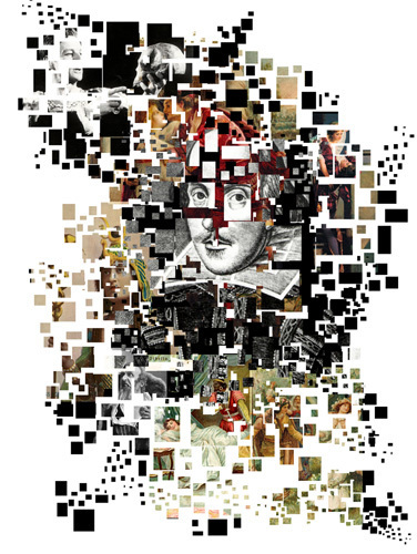 William Shakespeare Collage by Oscar Vila Nieto