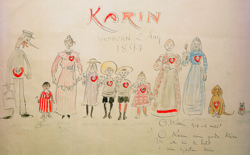 Congratulations on Karin's Name Day 1894 by Carl Larsson